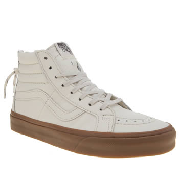 Vans White Sk8-hi Reissue Zip Womens Trainers
