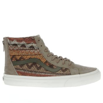Vans Khaki Sk8-hi Reissue Zip Dx Womens Trainers