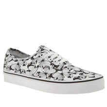 Vans White & Black Authentic Womens Trainers