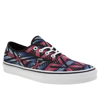 Vans Black & Red Authentic Moroccan Geo Trainers