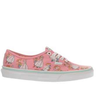 Vans Pink Authentic Toy Story Woody & Bo Womens Trainers