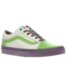 Vans White & Green Old Skool Toy Story Buzz Womens Trainers