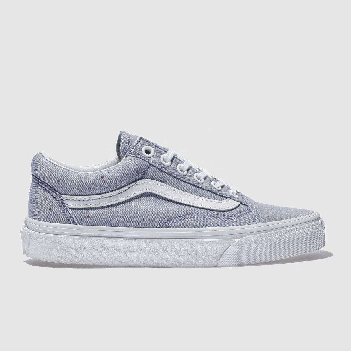vans pale blue old skool trainers