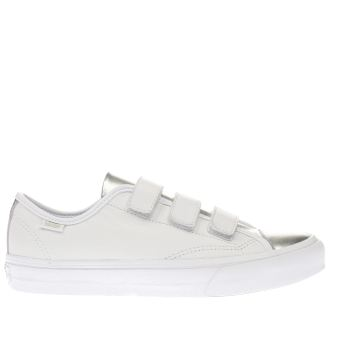 Vans White & Silver Prison Issue Trainers