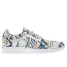 Vans White & Green Iso 1-5 Tropical Leaves Womens Trainers