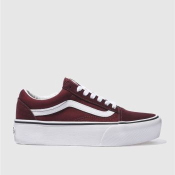 Vans Burgundy Old Skool Platform Womens Trainers