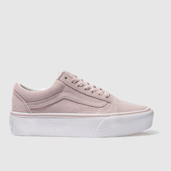 Vans Pale Pink OLD SKOOL PLATFORM Trainers