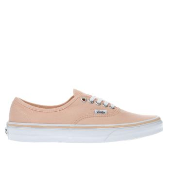 Vans Orange Authentic Womens Trainers