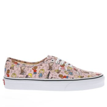 Vans Pale Pink AUTHENTIC PEANUTS DANCE PARTY Trainers