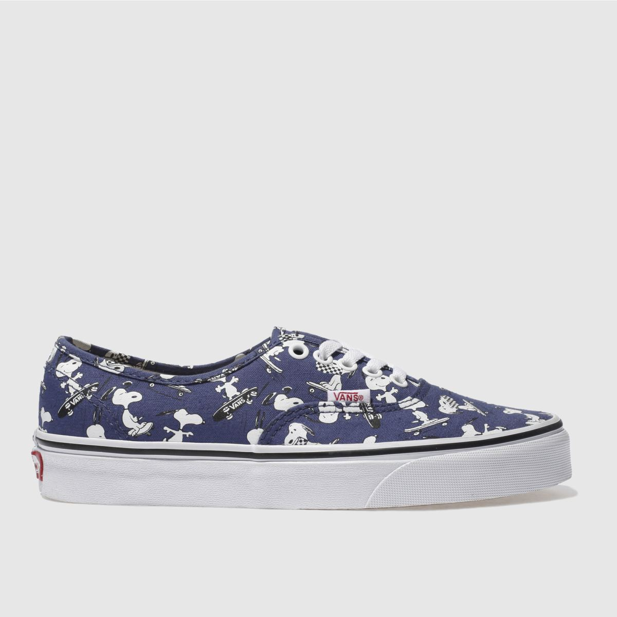 vans blue authentic peanuts snoopy trainers