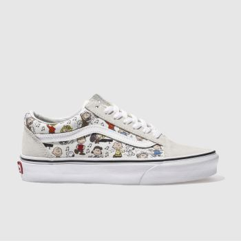 Vans White Old Skool Peanuts Multi Womens Trainers
