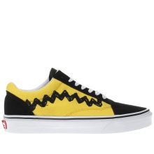 Vans Yellow Old Skool Peanuts Charlie Womens Trainers