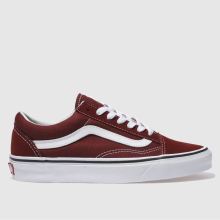 Vans Burgundy Old Skool Womens Trainers