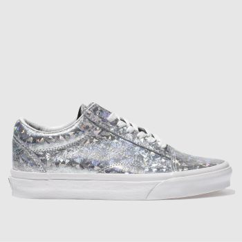 Vans Silver Old Skool Hologram Womens Trainers