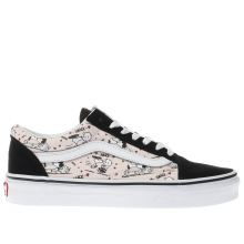 Vans Black & pink Old Skool Peanuts Smack Womens Trainers