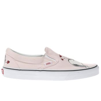 Vans Pale Pink SLIP-ON PEANUTS SMACK Trainers