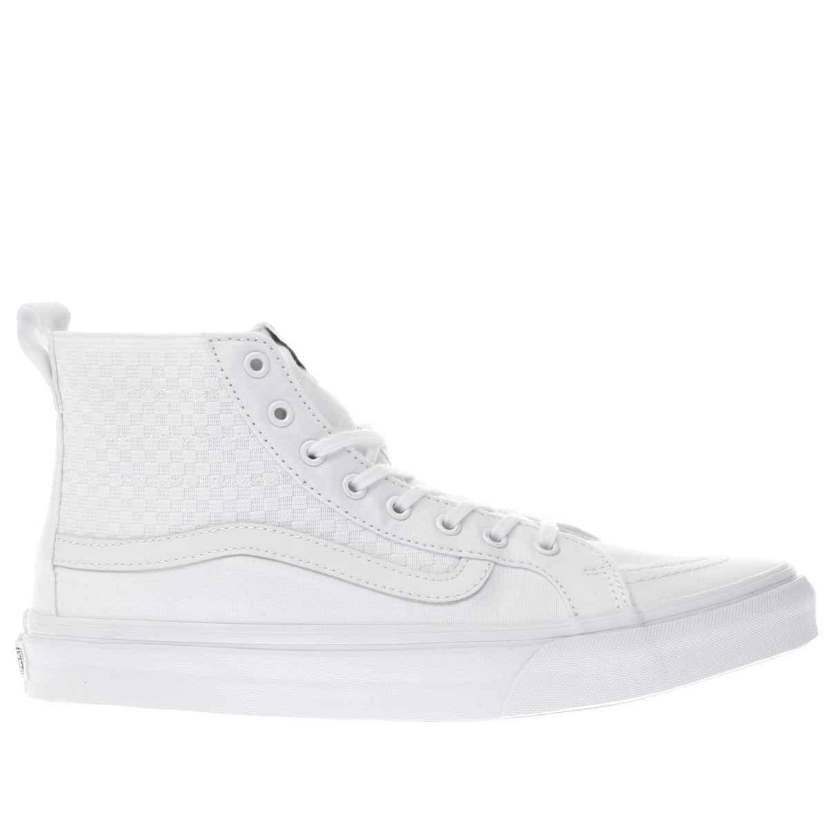 vans white sk8-hi slim checker gore trainers