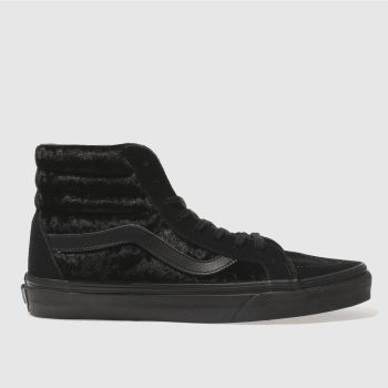 Vans Black Sk8-Hi Reissue Velvet Womens Trainers