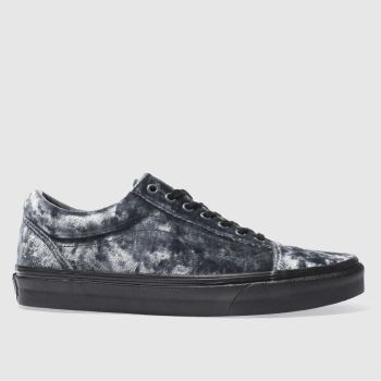 Vans Navy Old Skool Velvet Womens Trainers