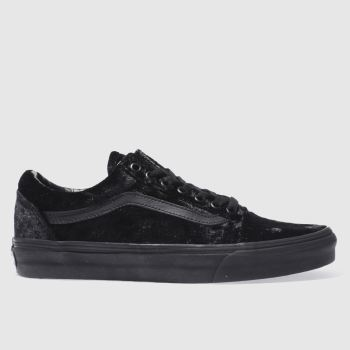 VANS BLACK OLD SKOOL VELVET TRAINERS