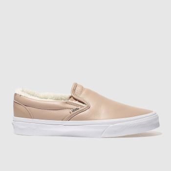 Vans Pink Classic Slip-On Leather Womens Trainers