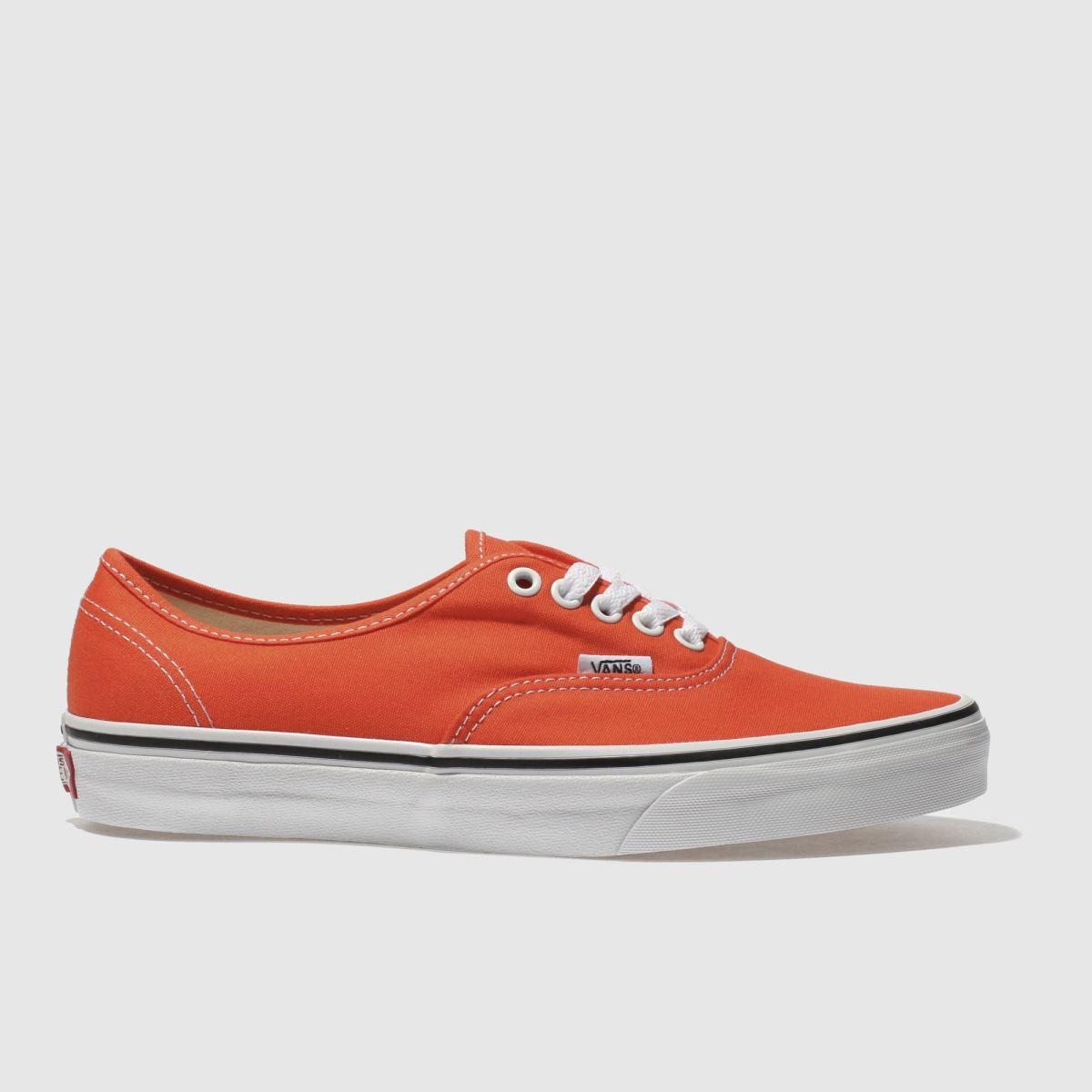 Vans Orange Authentic Canvas Trainers