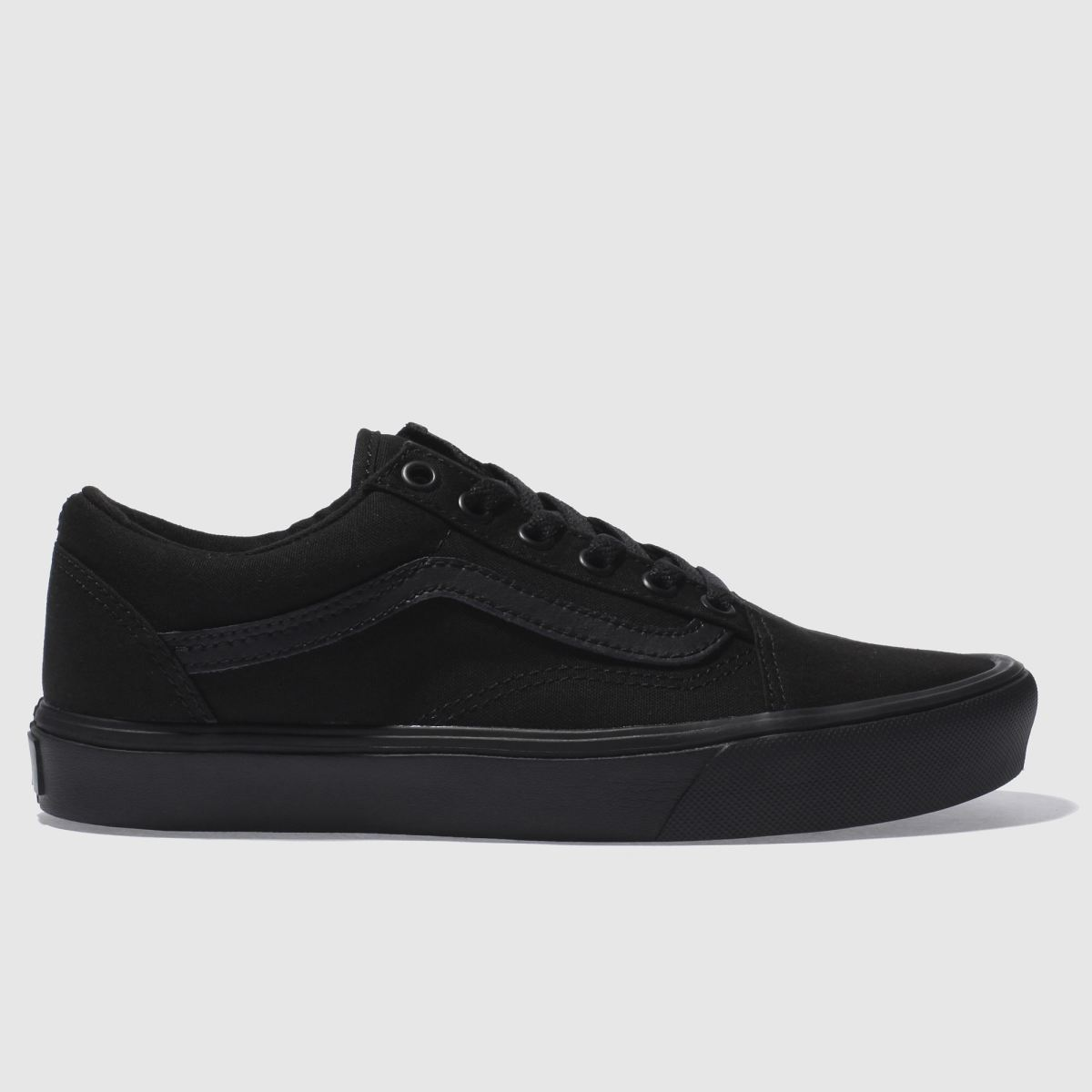vans black old skool lite canvas trainers