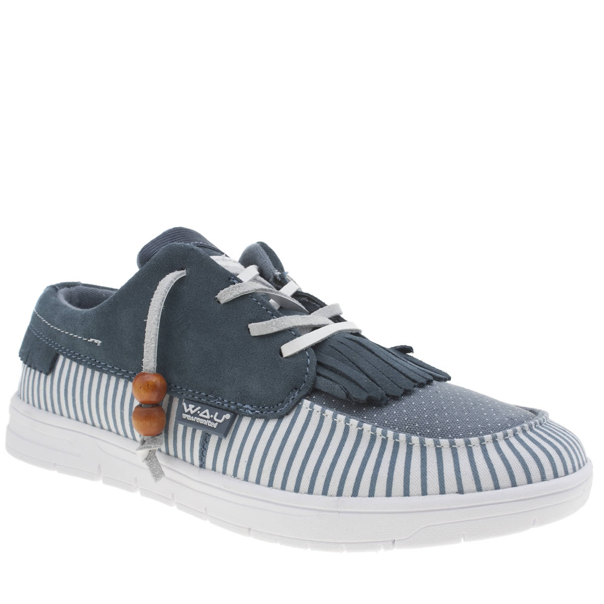 we are united We Are United White & Blue Tijuana Low Trainers