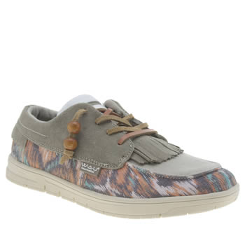 We Are United Beige Tijuana Low Womens Trainers