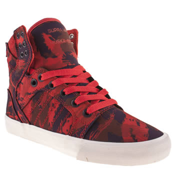 Supra Red Skytop Ii Trainers