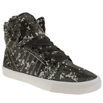 Supra Black & White Skytop Ii Trainers