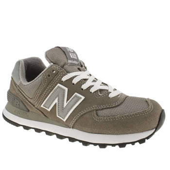 Womens New Balance Khaki 574 Trainers
