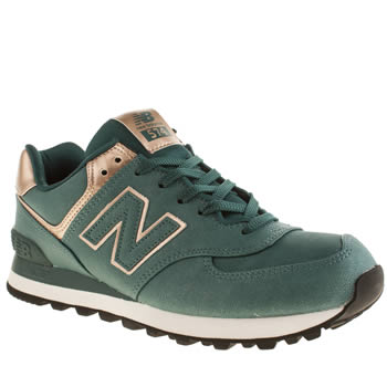 Womens New Balance Turquoise 574 Trainers