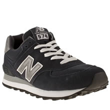 Navy & Grey New Balance 574 Suede & Mesh