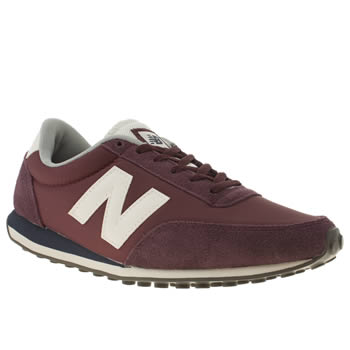 New Balance Burgundy 410 Suede & Nylon Trainers