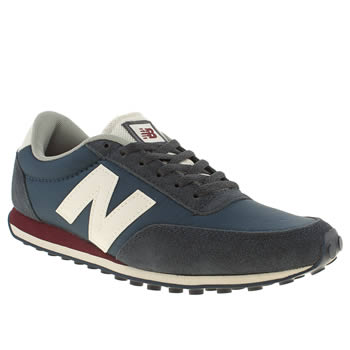 womens new balance navy & red 410 suede & nylon trainers