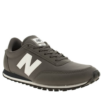 Womens New Balance Grey & Navy 410 Microfiber Trainers