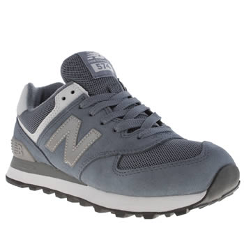 New Balance Pale Blue 574 Suede & Mesh Trainers