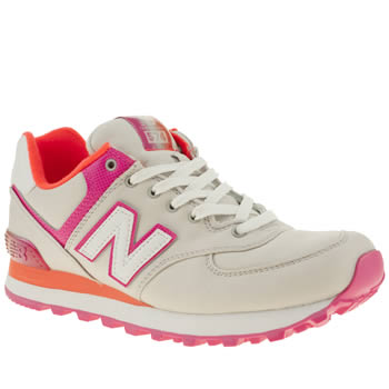 womens new balance light grey 574 alpine trainers