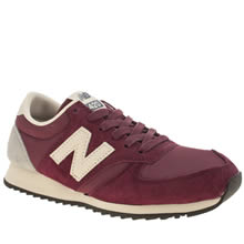 Red New Balance 420 Suede