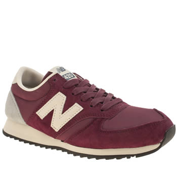 womens new balance red 420 suede trainers