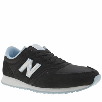 New Balance Black and blue 420 Suede Trainers