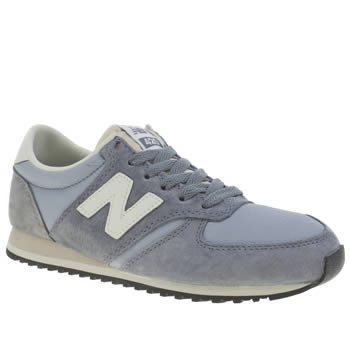 New Balance Pale Blue 420 Suede Trainers