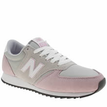 New Balance Light Grey 420 Suede Trainers