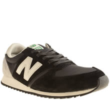 New Balance Black & White 420 Womens Trainers