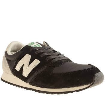 Womens New Balance Black & White 420 Trainers