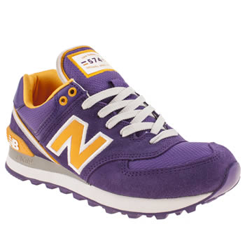 New Balance Purple 574 Stadium Jacket Trainers