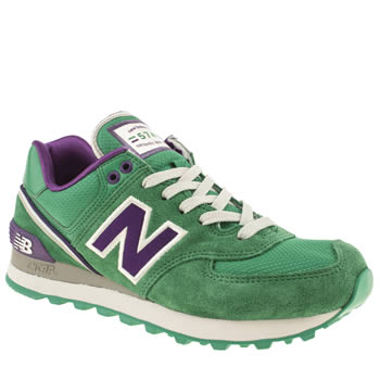 womens new balance green 574 stadium jacket trainers