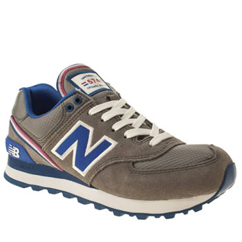 Womens New Balance Grey 574 Stadium Jacket Trainers
