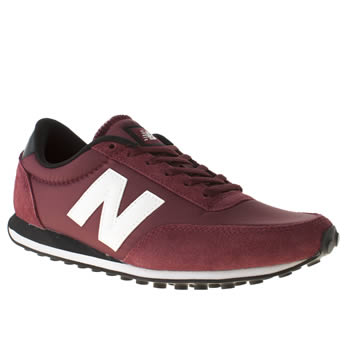 womens new balance burgundy 410 trainers